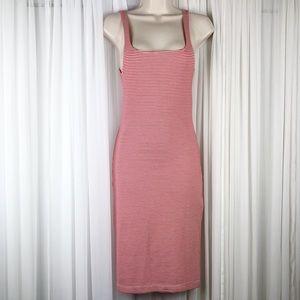 [Zara] Striped Fitted Midi Dress